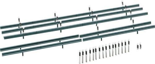 32 Begrenzungspfähle Faller 180535 HO Leitplanken 1600 mm #NEU in OVP#