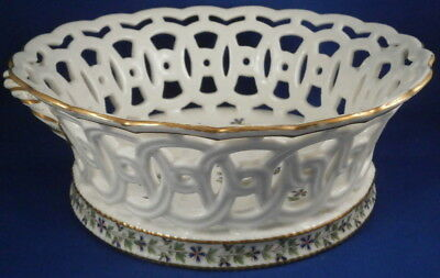 Bowls Selfless Antique 19thc Porcelain Paris Dihl Et Guerhard Reticulated Basket Porcelaine Ceramics & Porcelain