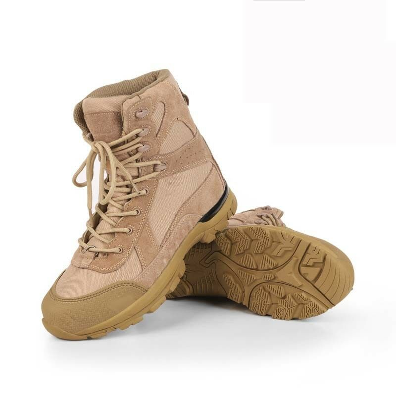 Mens Women Tactical Combat Suede Boots Waterproof Outdoor Hiking High Tops shoes