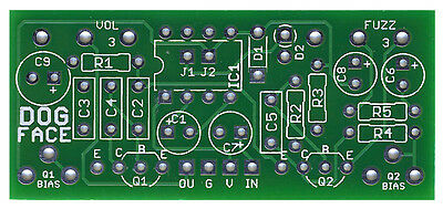 Pro Fabricated PCB for DIY Stompbox Build Fuzz Face with Voltage Inverter
