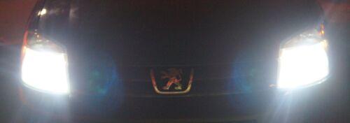 501 PEUGEOT 206 1998 2x H7 SUPER WHITE CREE LED SMD 30W CANBUS BULBS LIGHT