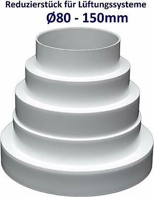 Reductor para campana extractora Conector reductor de tubo /Ø 80 100 110 120 130 140 150 160 170 180 190 200 mm. reductor universal para sistemas de ventilaci/ón de 80 a 200 mm