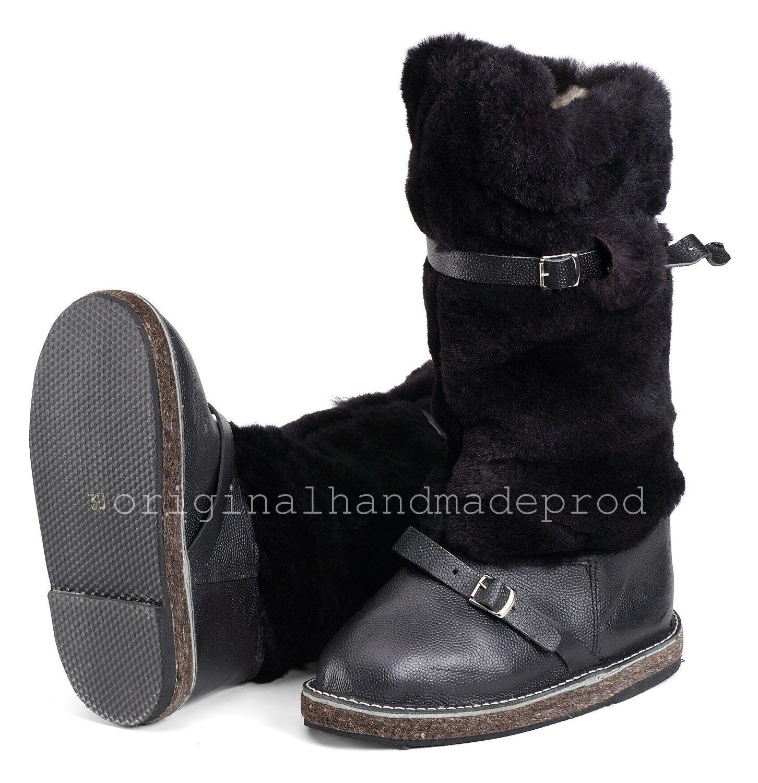 Russische High Fur Stiefel UNTY Pelzstiefel Pelzstiefel Pelzstiefel Schaffell Mukluks Winter Jagd Schuhe b772ee