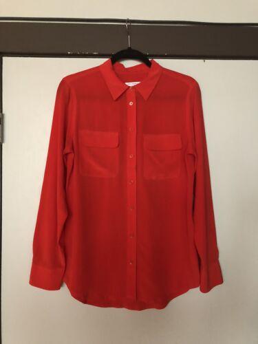 Equipment Slim Signature Shirt Cherry Red VGUC M