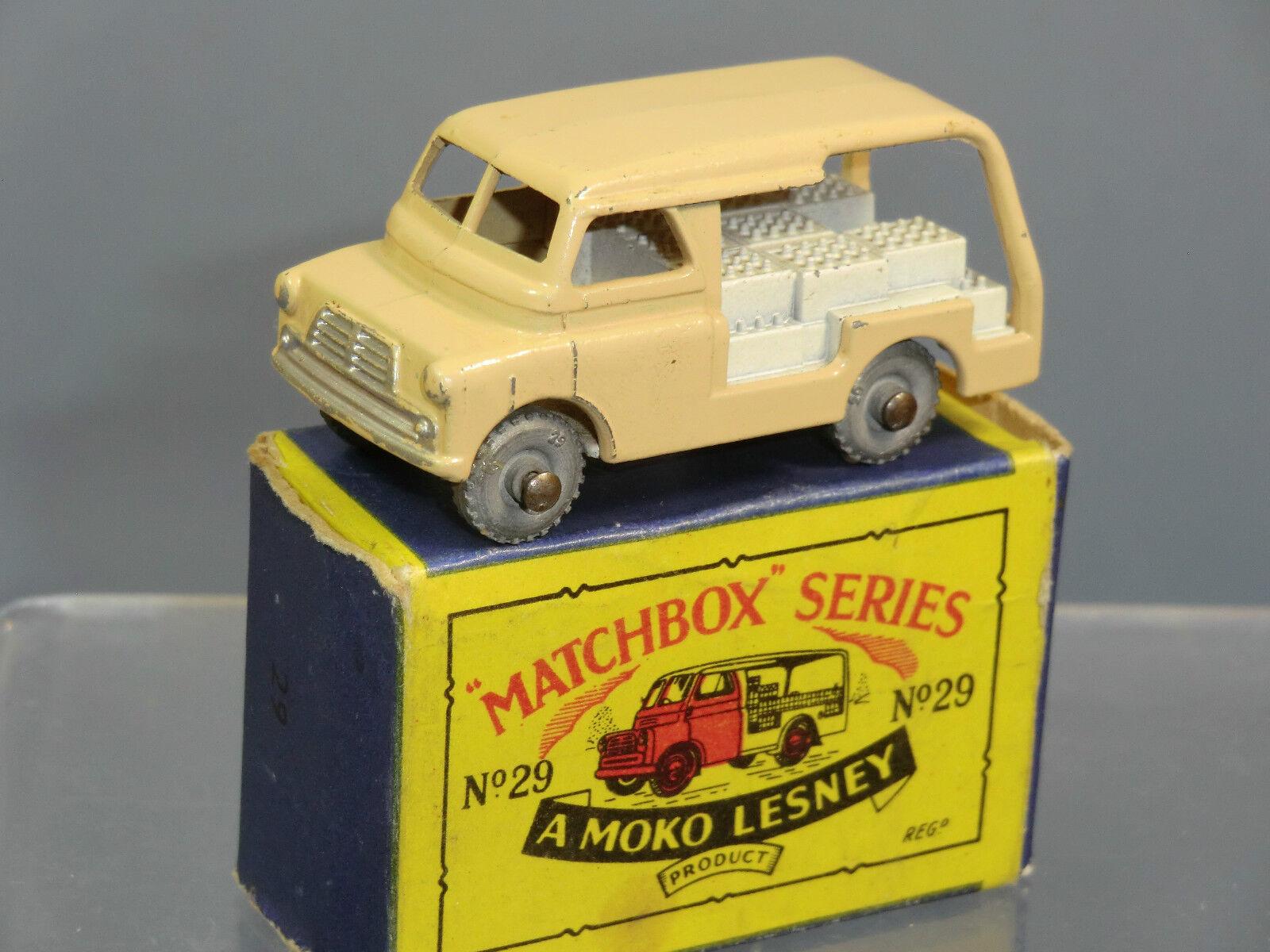 MATCHBOX Lesney Moko modello No.29a BEDFORD latte consegna Van VN Nuovo di zecca con scatola