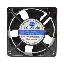 Best Electronics BT12038B1L 120mm x 38mm 115V Ball Bearing AC Cooling Fan NEW