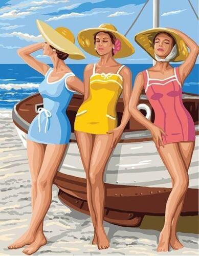 Filles de plage Royal Paris Tapisserie//Tapisserie Toile-Beach Girls