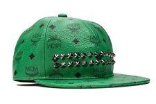 $585 MCM Stark Mens Hat in Paradise Green BASEBALL PVC CAP STUDS MEC4SVE Size L