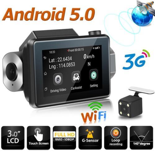 Phisung K9 Android5.0 Car DVR Camera GPS 3G WIFI Dual Lens WDR Dash Cam Recorder