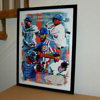 Chicago Cubs, 2016 World Series Champions, Baseball, Sports, 18x24 POSTER w/COA1