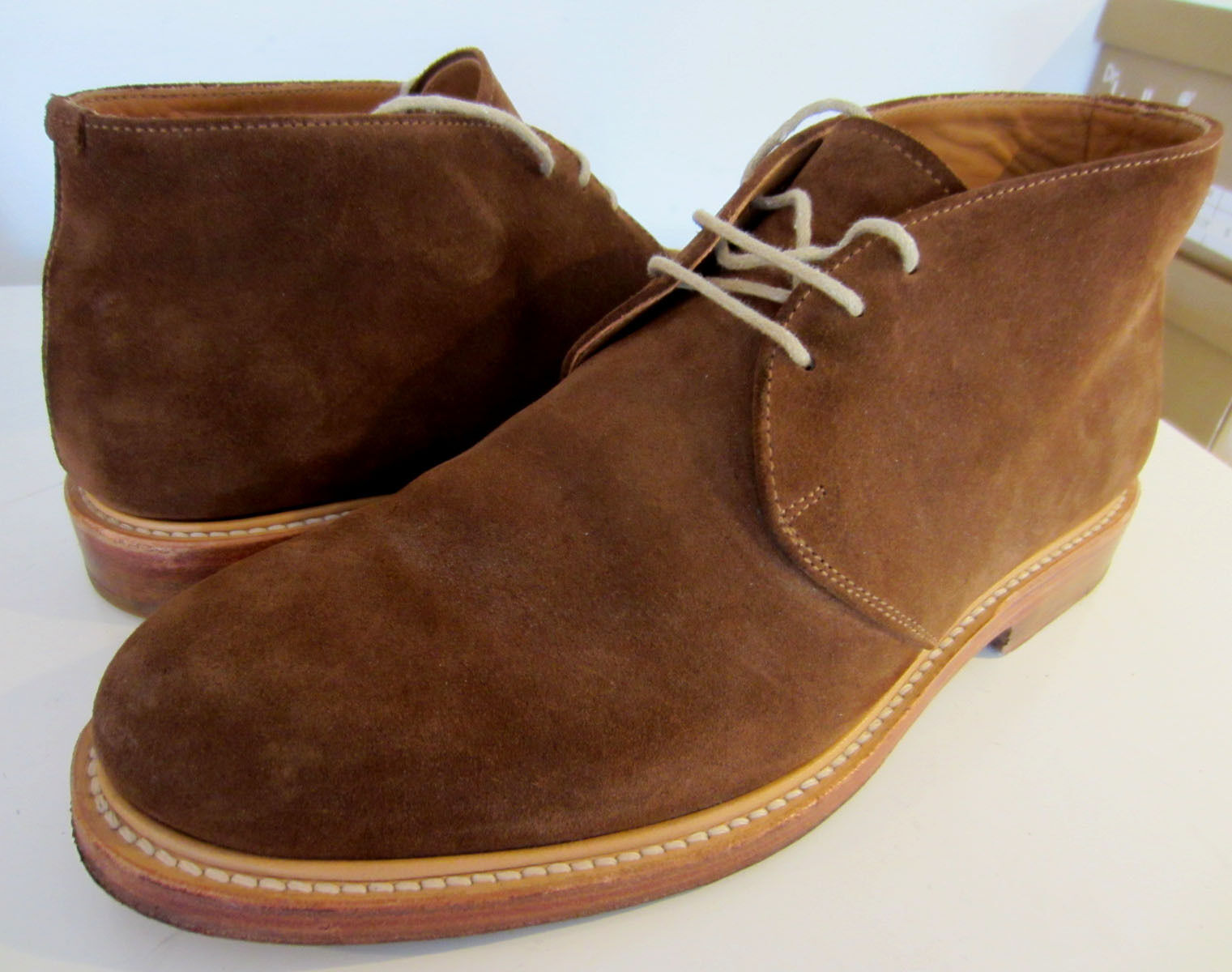 Russell Boots & Bromley hand made chocolate brown suede chukka Boots Russell UK 6 EU 38.5 34ddae