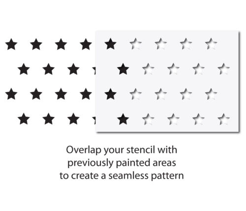 Star Pattern Wall Stencil CraftStar 5 cm Star Seamless Pattern Stencil