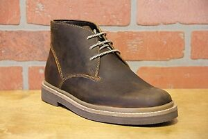 Details about Clarks Bushacre Ridge Men's Beeswax Leather Chukka Boots 26122634