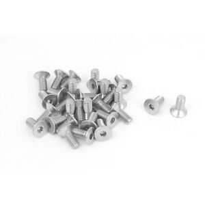 M5-x-12mm-304-Stainless-Steel-Hex-Socket-Countersunk-Flat-Head-Screw-Bolts-30PCS