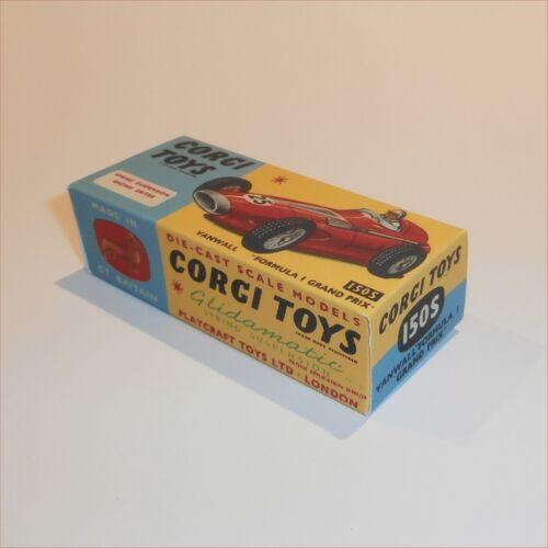 Corgi Toys  150s Vanwall Racing Car empty Reproduction  Box
