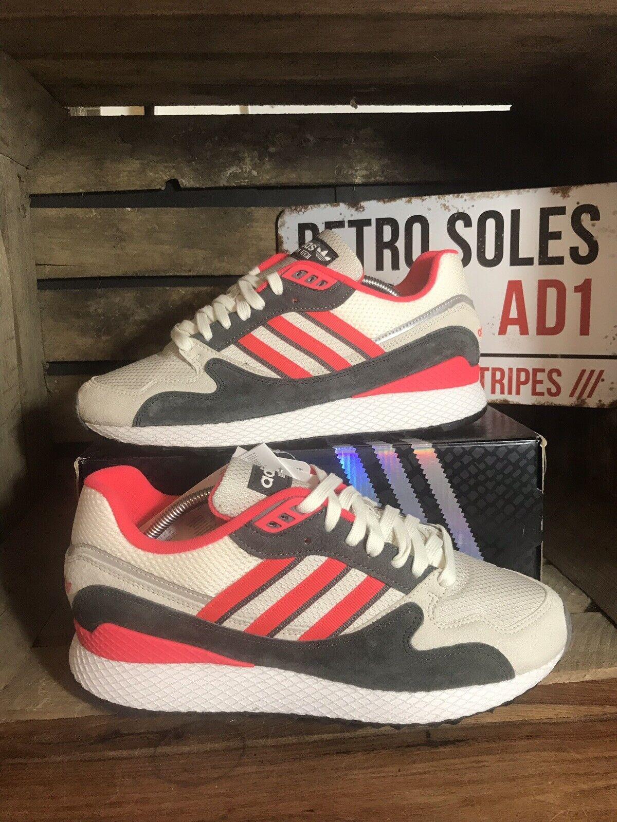 Adidas Originals Ultra Tech UK 9 gris Negro Rojo BD7935