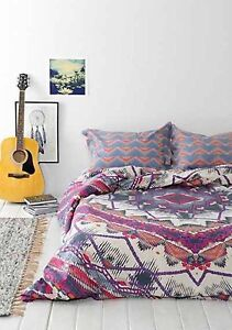 Urban Outfitters Magical Thinking Pom Fringe White Duvet twin XL 66 x 90 NEW