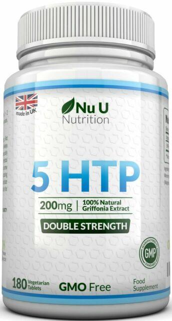 5 HTP 200mg 5-HTP 180 Tablets 5htp Natural Serotonin Sleep Stress Anxiety