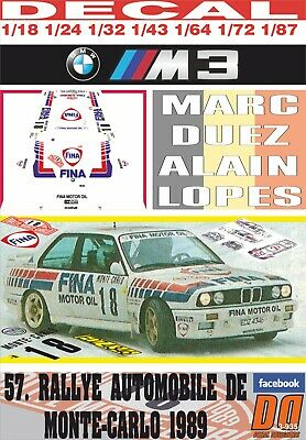 Die cast 1//43 Modellino Auto BMW M3 Fina Rally Monte Carlo 1989 M.Duez