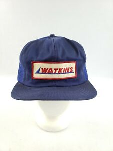 49270be41680a Vintage Watkins Mesh Trucker Snapback Hat Cap Patch 70s 80s VTG Hat ...