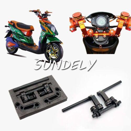 7/8 Universal Motor Cycle Scooter Adjustable Steering Handle Bars System Black