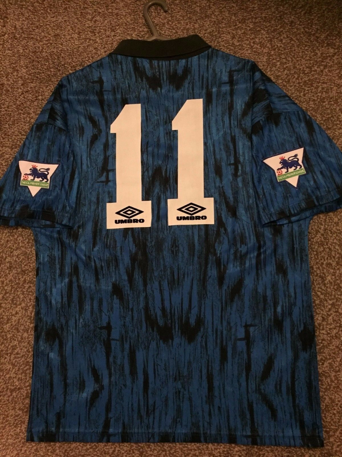 Manchester United Vintage 199293 Away Camicia Adulti M 11