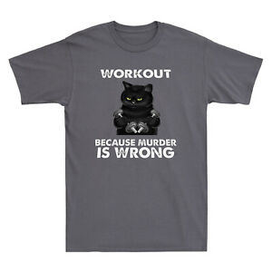 Cat Cooking Tee Cat Owner Gift Cat Lover Black Cat Cooking Because Murder is Wrong Cat Lover Gifts T-Shirt Cat TShirt Cat Lover Gifts