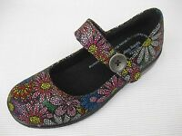Spring Step Womens Shoes $95 lavender Mary Jane Floral Black Multi 38 7.5 8