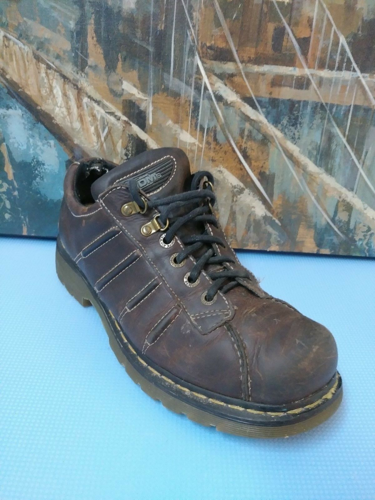 Doc Brown Dr. Martens Air Cushioned Brown Doc Leather Shoe Men 11 cb3d4d