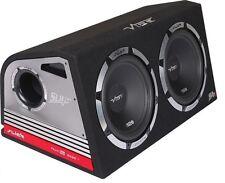 """Vibe Slick Doppio 12 """"SUBWOOFER AMPLIFICATO BOX 2400W Costruito In Amp"""