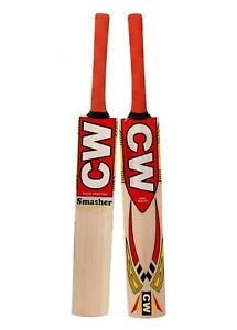 Junior-SMASHER-Tennis-Cricket-Bat-Kashmir-Willow-Size-4-With-Free-Cover-By-CW