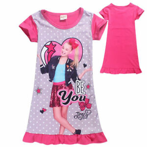 Image Is Loading Kids Girl Jojo Siwa Summer Short Sleeve Skirt