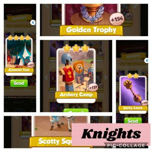 Coin Master Cards 100X Knights Set