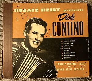 DICK-CONTINO-1947-Horace-Heidt-4-record-Album-500-His-First-Album-Age-17