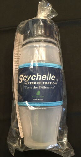 NEW SEYCHELLE 28 OZ EXTREME MICRO RADIOLOGICAL FILTRATION FLIP TOP WATER BOTTLE