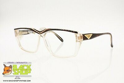Amabile Safilo Emozioni 10 Vintage Eyeglass/sunglasses Frame, Clear & Wooden Effect, Nos