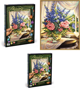 Schipper-609130601-Flowers-by-The-Window-Paint-By-Numbers-Board