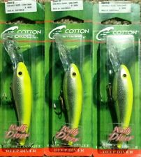 tough Cotton Cordell Deep Jointed  Wally Diver lure CDJ5342 Gold clown