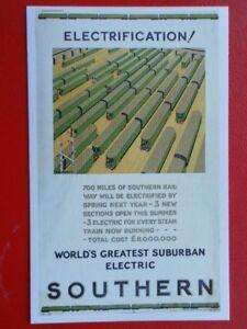 POSTCARD ELECTRIFICATION  WORLDS GREATEST SUBURBAN ELECTRIC  SOUTHERN RAILWAY - Tadley, United Kingdom - POSTCARD ELECTRIFICATION  WORLDS GREATEST SUBURBAN ELECTRIC  SOUTHERN RAILWAY - Tadley, United Kingdom