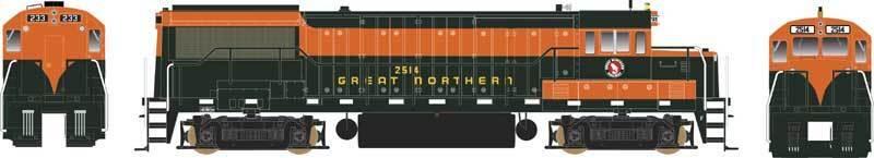 BOWSER U-25B Great Northern GN grn orange 24526  DCC sound 2522