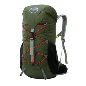 40L-Camping-Backpack-Waterproof-Ultralight-Army-Green-Color-Internal-Frame-New