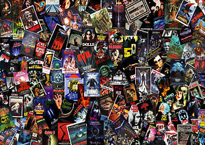Horror Movie Collage Wandbild Poster A1 A5 Größen Ebay