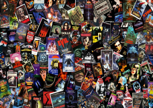A1 - A5 SIZES AVAILABLE HORROR MOVIE COLLAGE WALL ART POSTER