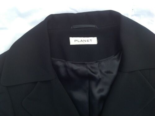 Zakelijk 8 Black Werk Blazer Slimme Planet Office Long City Jacket Maat Tailored FdgdqPz