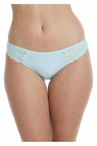 Camille Femmes Bleu Serenity Jacquard High leg Slips