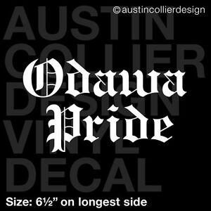 6-5-034-ODAWA-PRIDE-vinyl-decal-car-laptop-sticker-indian-tribe-native-american