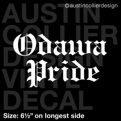 "6.5/"" ODAWA PRIDE vinyl decal car laptop sticker indian tribe native american"