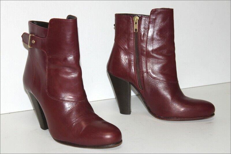 Claudie Perlot Stiefletten mit Absätze Alle Leder Rot Hermès T 37 Tbe