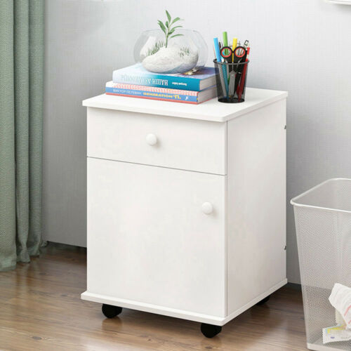 Nightstand Bedsid Table Drawer Cabinet Drawer Storage Removable Table Bedroom UK