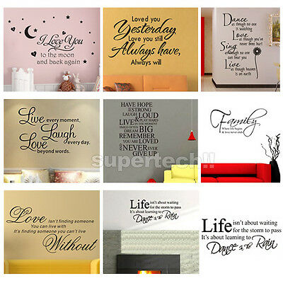 Hot Sale! Art Vinyl Quotes Removable Wall Stickers Decal Mural home Decor Kids